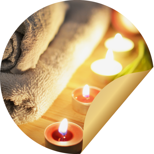 Candles and towels combined with the spa offers of the romantic hotel grindelwald make for the perfect stay!