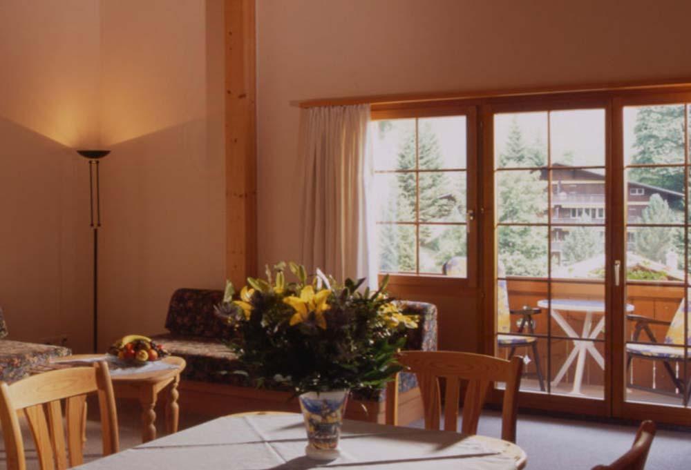 Blick in das 2-Zimmer Apartment im Hotel Bodmi